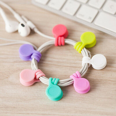 Silicone Earphone Clips Cord Winder Cable Organizer Magnetic Holder Useful