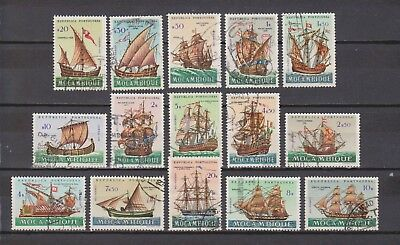 Portugal- Moçambique - 1963 - Ships - 15 Different Stamps