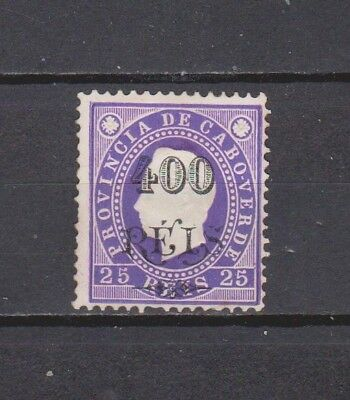 Portugal- Cabo Verde- 1902 - K. Luis Surcharged - 400/25 Rs Mh (2 Scans)
