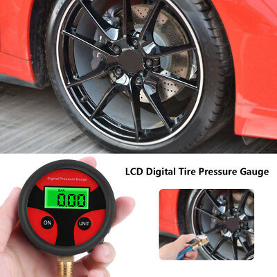 0-200PSI LCD Digital Tyre Tire Air Pressure Gauge Meter For Car Truck Motoycycle