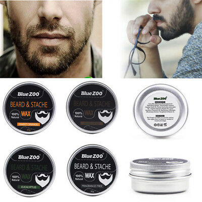 -Beard Balm Natural Oil Conditioner Beard Care Moustache Wax Men Grooming Kit