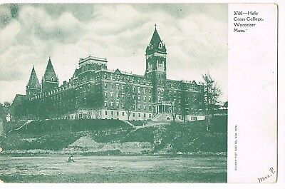 UNDIVIDED BACK Postcard    HOLY CROSS COLLEGE  -  WORCESTER, MA  -  # 3700