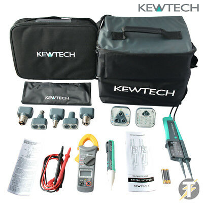 Kewtech KIT6E w/ Clamp meter, 103 and R2 socket tester, Duo voltstick plus more