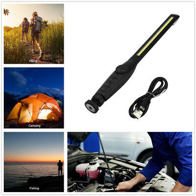 USB Rechargeable Eyeshield COB Lamp LED Working Light w/steel collapsible hanger