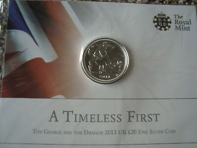 Royal Mint* 2013 Uk Fine Silver Coin*george And The Dragon Bn /sealed