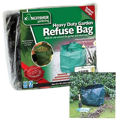 Heavy Duty Garden Waste Bag Reusable Waterproof Refuse Sack for Leaves Grass Bin