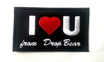 **CUSTOM** Personalised -- I LOVE YOU -- Heart Name Embroidered Sew on Patch