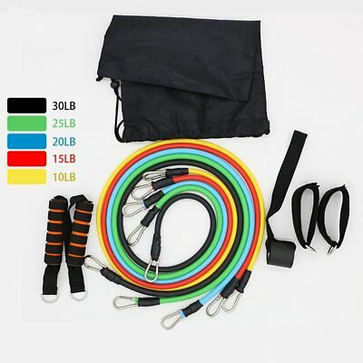 11pcs Multifunctional Fitness Equipment Set Sports Tension Rope Exercise Bands O