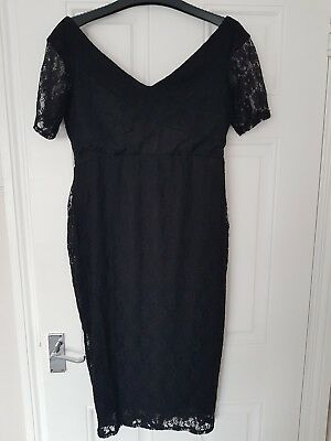 ASOS Black Lace Maternity Dress Size 12 New Without Tags