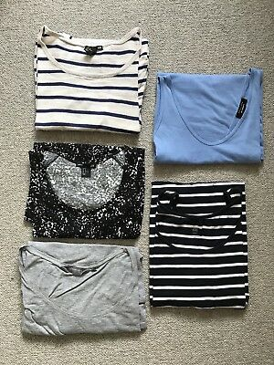 Maternity Bundle - Size 12 / M - H&M Newlook New Look - Five Tops / dresses
