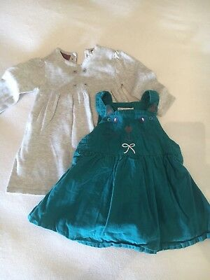 2 Baby Girl Dresses 3-6 Months M&S And John Lewis