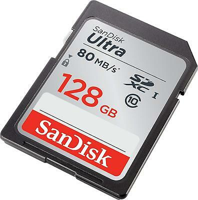 High Storage SanDisk ULTRA 128 GB SD Memory Card up to 80 MB/s New SD CARD