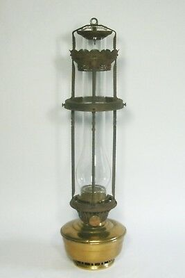 w Antique Vintage Aladdin Model 12 Four Post Cabin Hanging Kerosene Oil Lamp