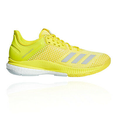 adidas Womens crazyflight X 2.0 Court Shoes Yellow Sports Basketball Trainers