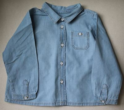 Bonpoint Baby Blue Chambray Shirt 18 Months