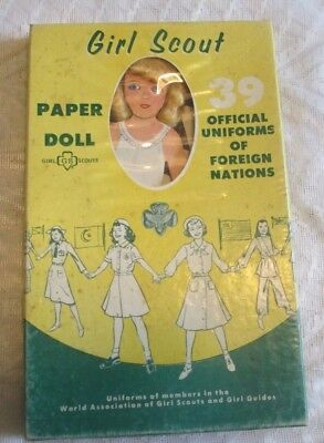 Vintage Girl Scouts Paper Doll: Uniforms of Foreign Nations