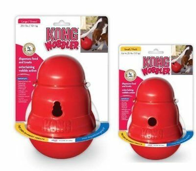 KONG Wobbler Dog Treat Food Dispensing Chew Toy Small Or Large