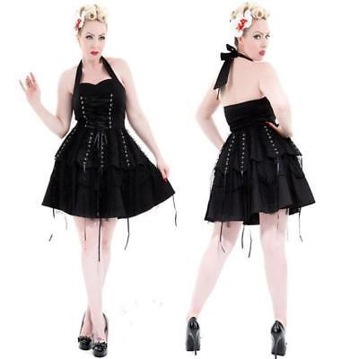 BLACK LACE PIRATE MINI DRESS by HEARTS & ROSES LONDON ALTERNATIVE GOTHIC