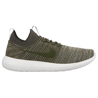 7a24110f33a9 NEW NIKE ROSHE Two Flyknit V2 Casual Shoes Mens V2 khaki green 10.5 ...