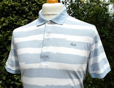 Lacoste Sky Blue/White Polo T-Shirt - XL/XXL - Size 7 - Mod Ska Scooter Casuals