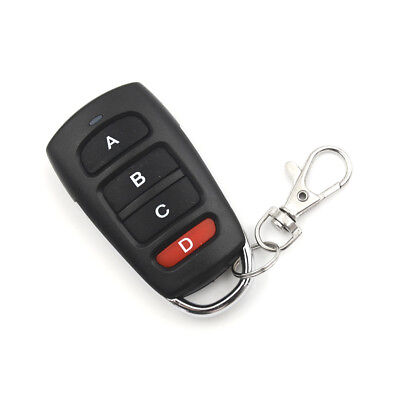 4 Buttons 315mhz Cloning Garage Door Remote Control Key Fob 433mhz Universal QQW