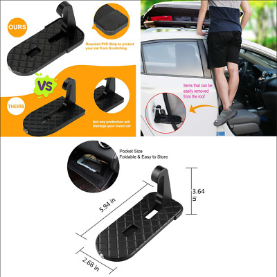 Universal SUV Folding Ladder Heavy Duty Foot Pedals Easy Access to Car Roof top