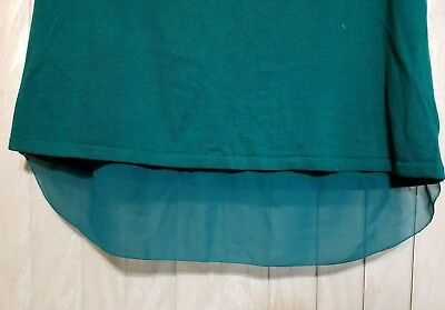 NWT Dana Buchman Woman TOP Size XL Green with Crochet Neck and Shoulders $48