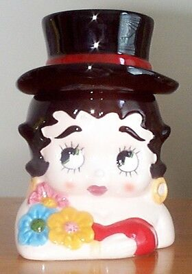 Vintage Vandor 1990 BETTY BOOP TOPHAT COOKIE JAR -Mint in Original Box Retired