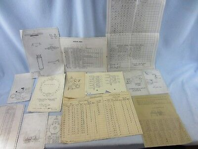 American LaFrance antique parts Steamer, ladder, blue-prints, sketchs, charts