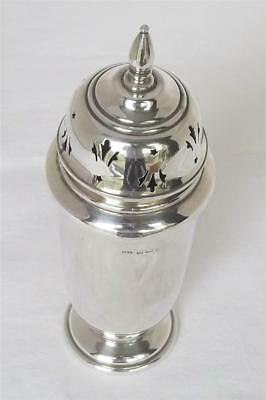 A Superb Large & Heavy Solid Sterling Silver  Sugar Caster Shaker Dates 1944.