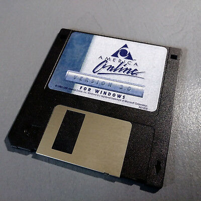 """Vintage AOL 3.5"""" FLOPPY Disk Collectible America Online Version 3.0 1993-1996."""