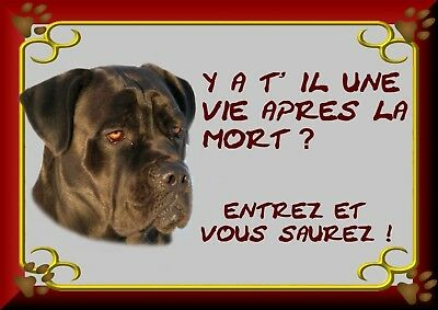 Pancarte Attention Chien Plastifiee Cane Corso 2-3