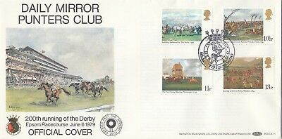 GB 1979 Horse Racing Paintings FDC, Daily Mirror Punter Club 06 June 1979 Derby