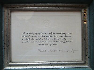 Texas Governor Clements Hobby Invitations Framed