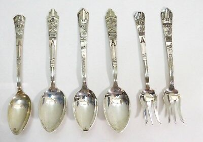 Vintage-A Century Of Progress-Chicago World's Fair-Sterling Silver Spoons/forks
