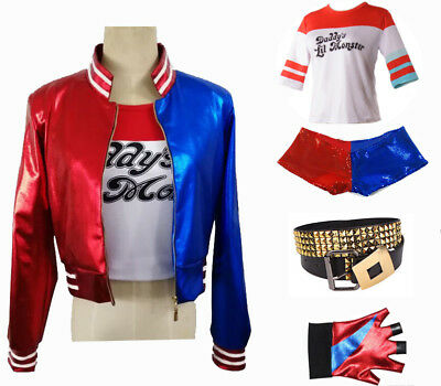 Harley Quinn Suicide Costume Deluxe Set Harley Quinn Movie Fancy Dress Accessory