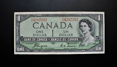 1954 BANK OF CANADA $1 DOLLAR DEVIL'S FACE **Coyne & Towers** B/A (( EF ))