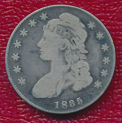 1835 Capped Bust Silver Half Dollar **very Nice - Circulated** Free Shipping!!