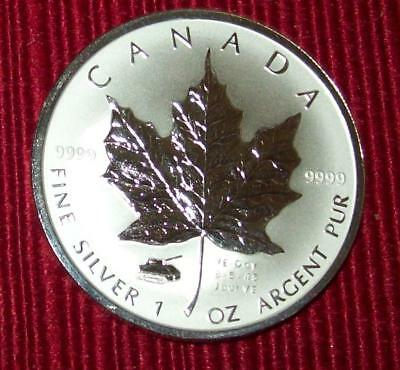 2005 Reverse Proof With Ve-Day Privy Canada Maple Leaf 9999 Silver!! $5 Dollars!