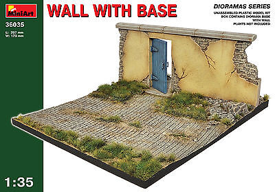 Diorama Wall With Base   1/35 MiniArt  # 36035