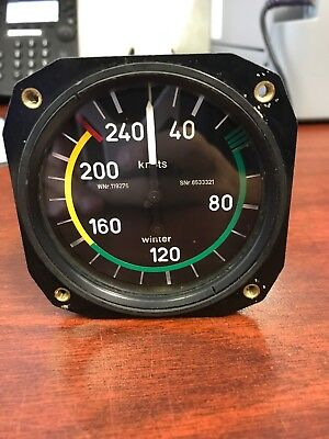 Winter Instruments 6FMS533 Airspeed Indicator- CORE UNIT