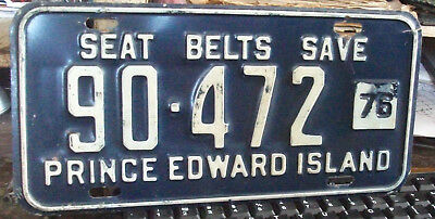1976 Prince Edward Island License Plate