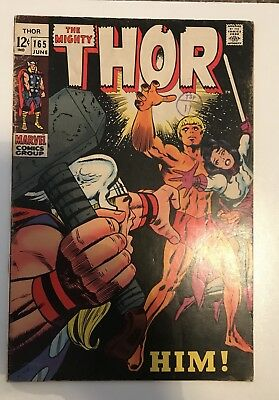 The Mighty Thor # 165 - 1St Full Appearance Of Adam Warlock Marvel