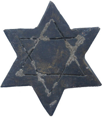 JUDAICA Star of DAVID Judaism BRONZE Pre WW2 wwII JEWISH Native ART Old Europe