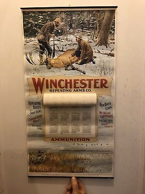 "Vintage Original 1962 WINCHESTER REPEATING ARMS Calendar 27"" x 14"""