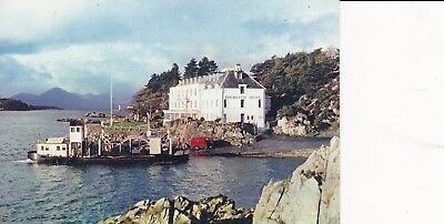 THE SKYE FERRY AT KYLE CLASSIC POST OFFICE VAN Picking-up MAIL Isle of Skye