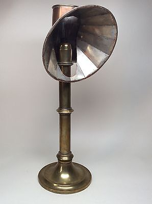 Rare Late 19th Century Brass and Copper Candlestick Students Lamp Circa 1860