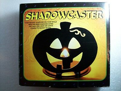 Vintage Halloween Pumpkin Shadow Caster Jack-O-Lantern 1994 Candle Holder
