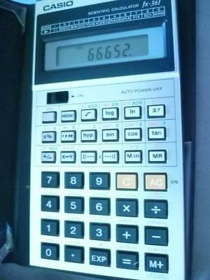 Vintage Casio Fx-361 Boxed Calculator With Paperwork Made In Japan