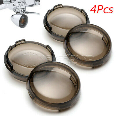 4x Turn Signal Light Smoke Lens Cover for Harley Electra Glide Sportster Touring